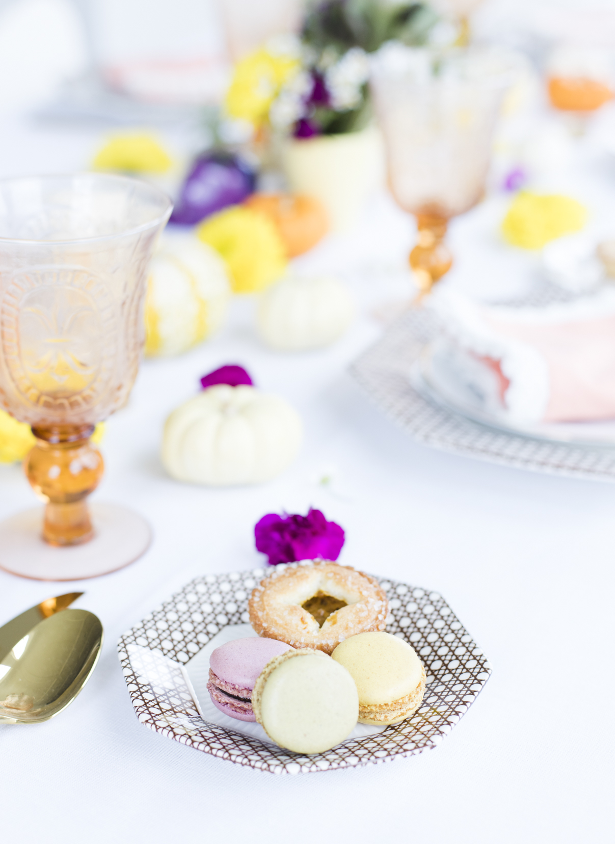 Colorful Fall Table Desserts