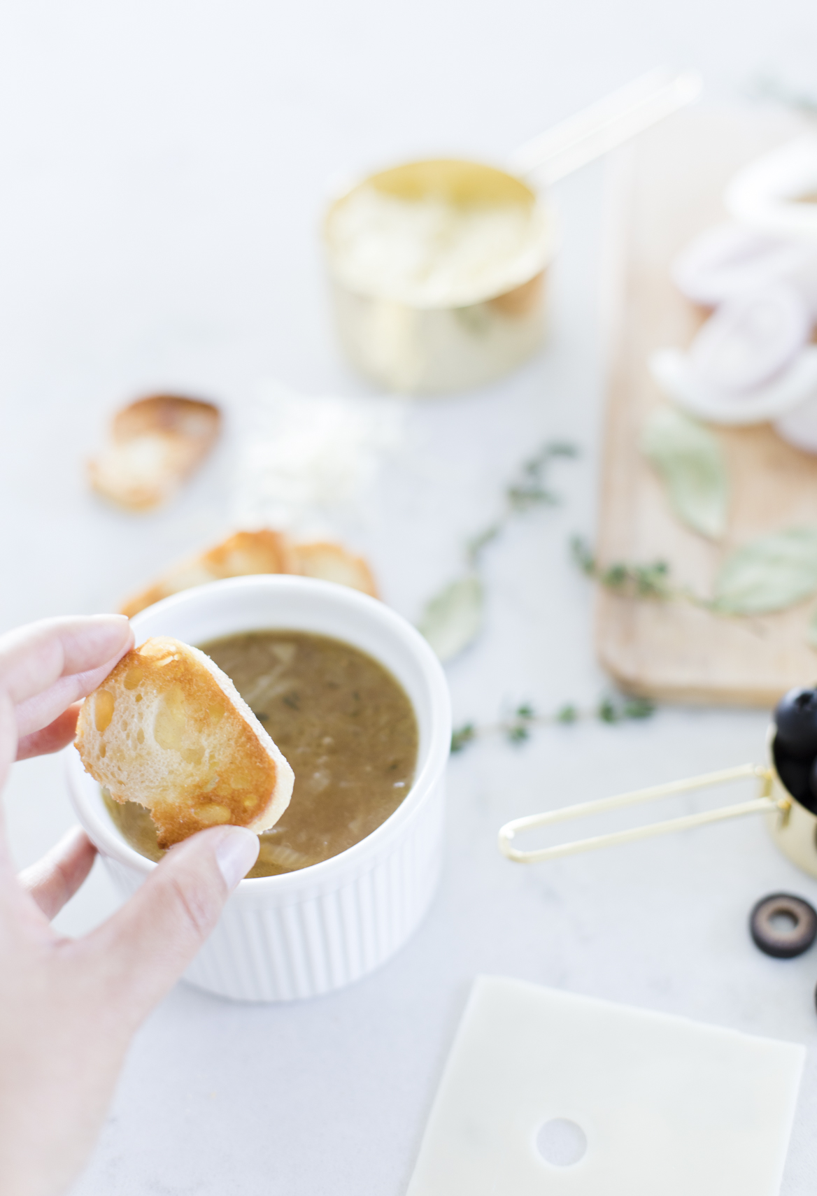 Croutons for Easy French Onion Soup