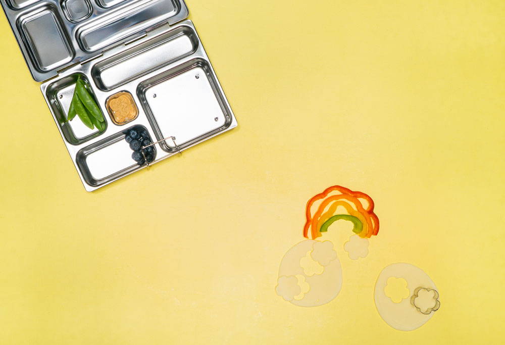 Kids Snack Ideas Pepper Rainbow with Sargento Cheese