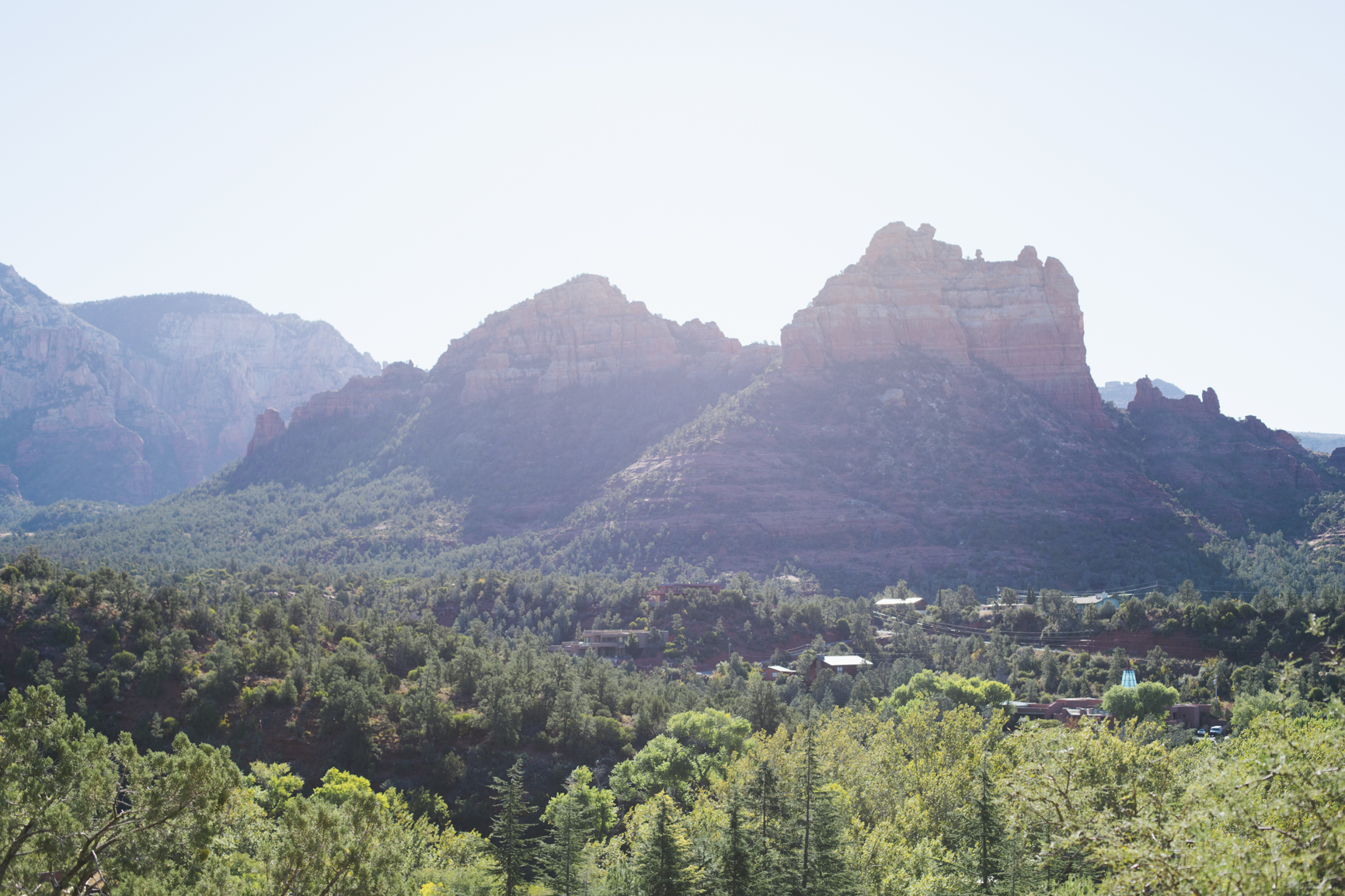 View of Sedona from Orchards Inn