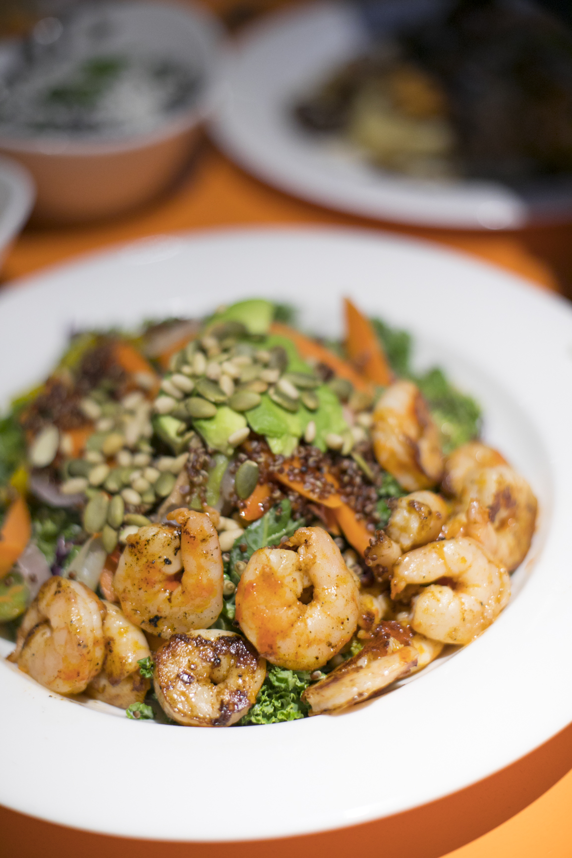 Shrimp Salad with Kale from 89Agave Sedona Arizona