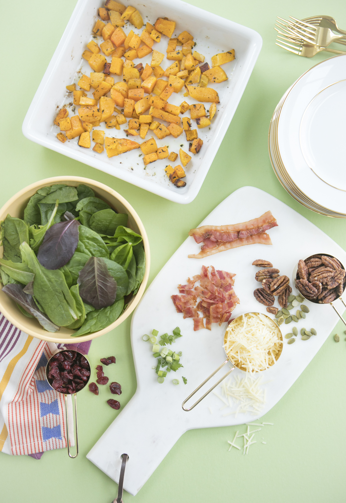 Fall Inspired Salad Recipe Ingredients