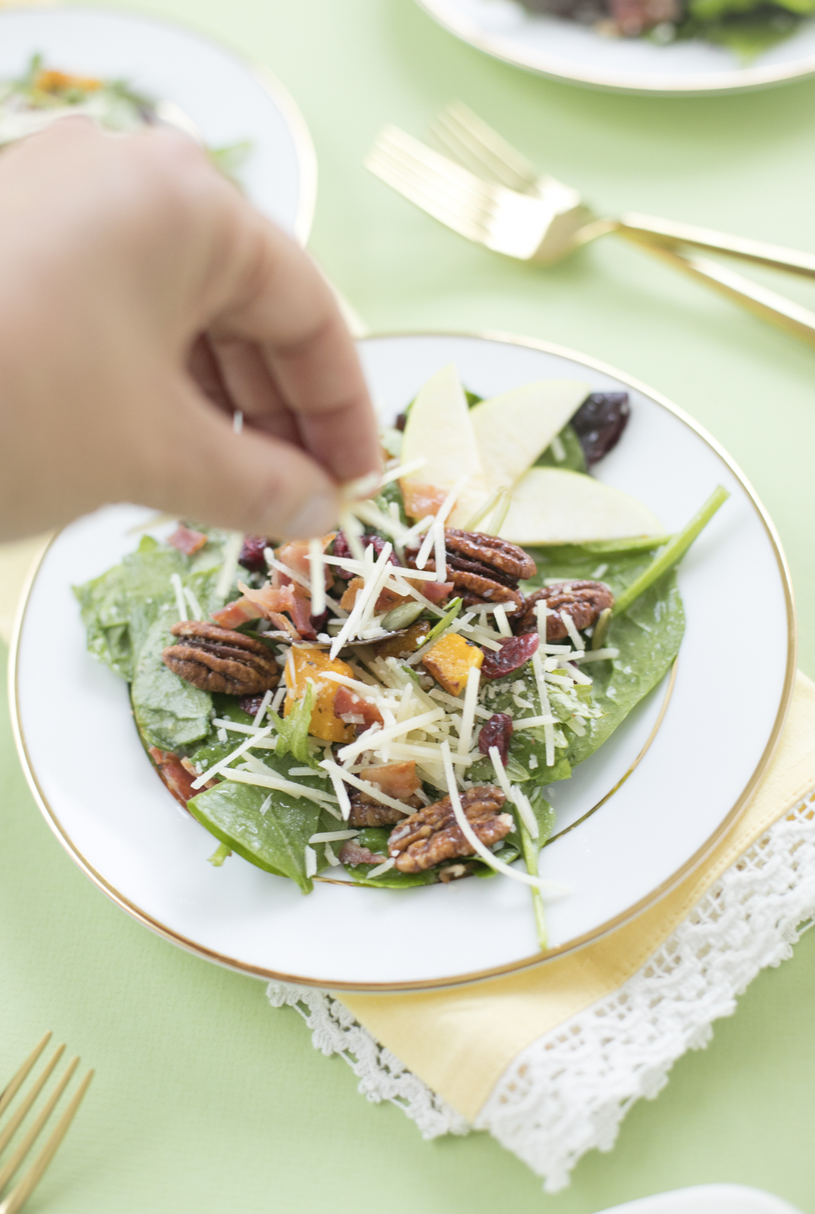 Fall Inspired Salad Recipe with Sargento Cheese