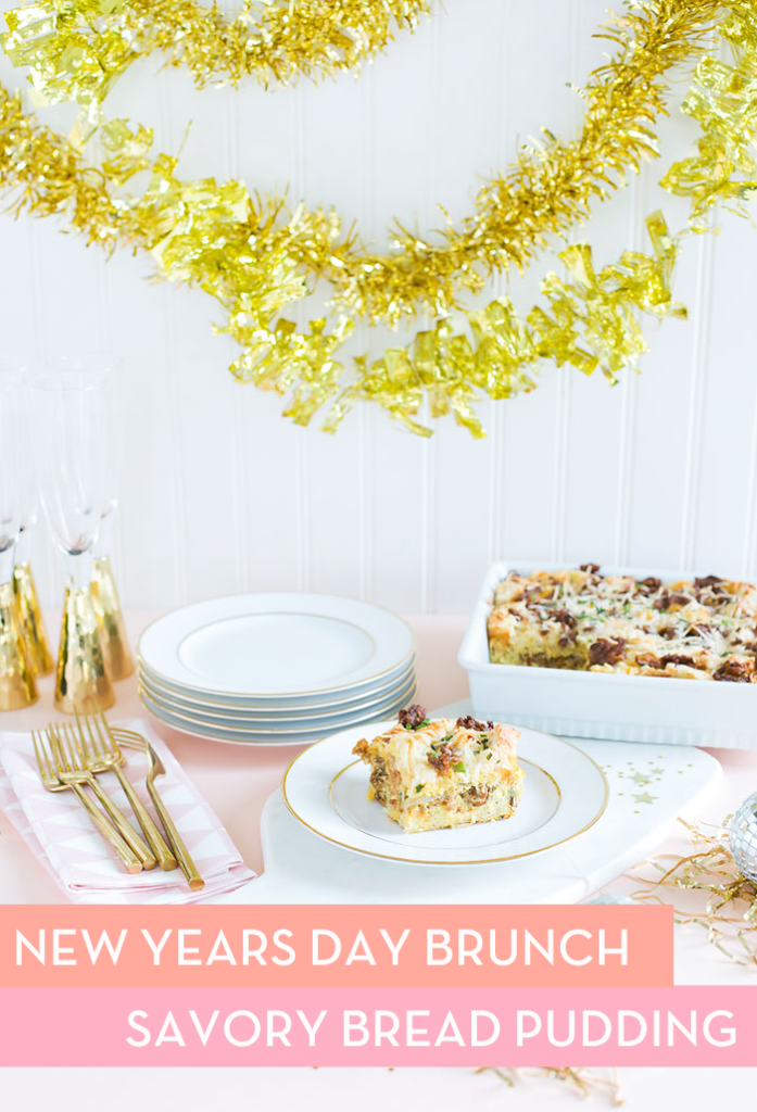 Savory Bread Pudding Recipe // New Years Day Brunch