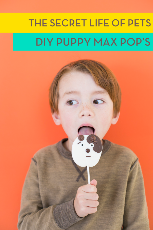 DIY Puppy Chocolate Max from The Secret Life of Pets Pops