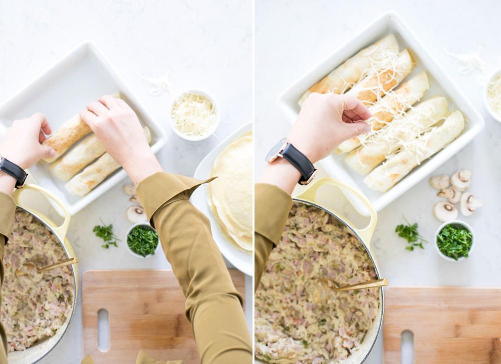 Ham and Cheese Savory Crepe Recipe