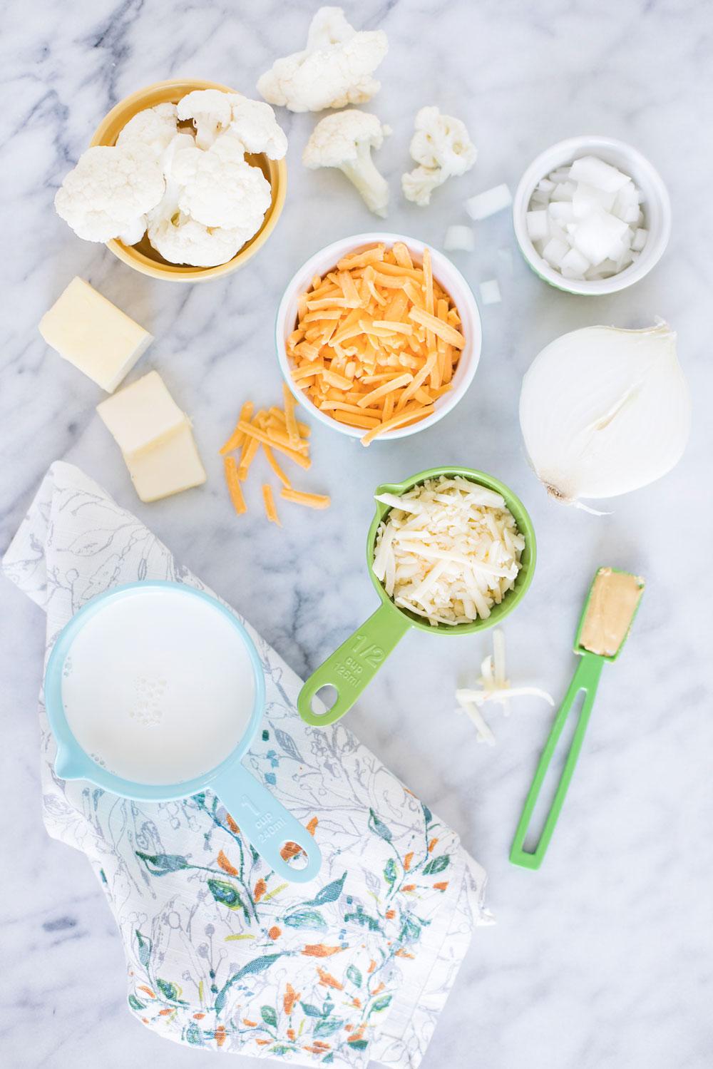 Creamy Cauliflower Cheese Soup Ingredients