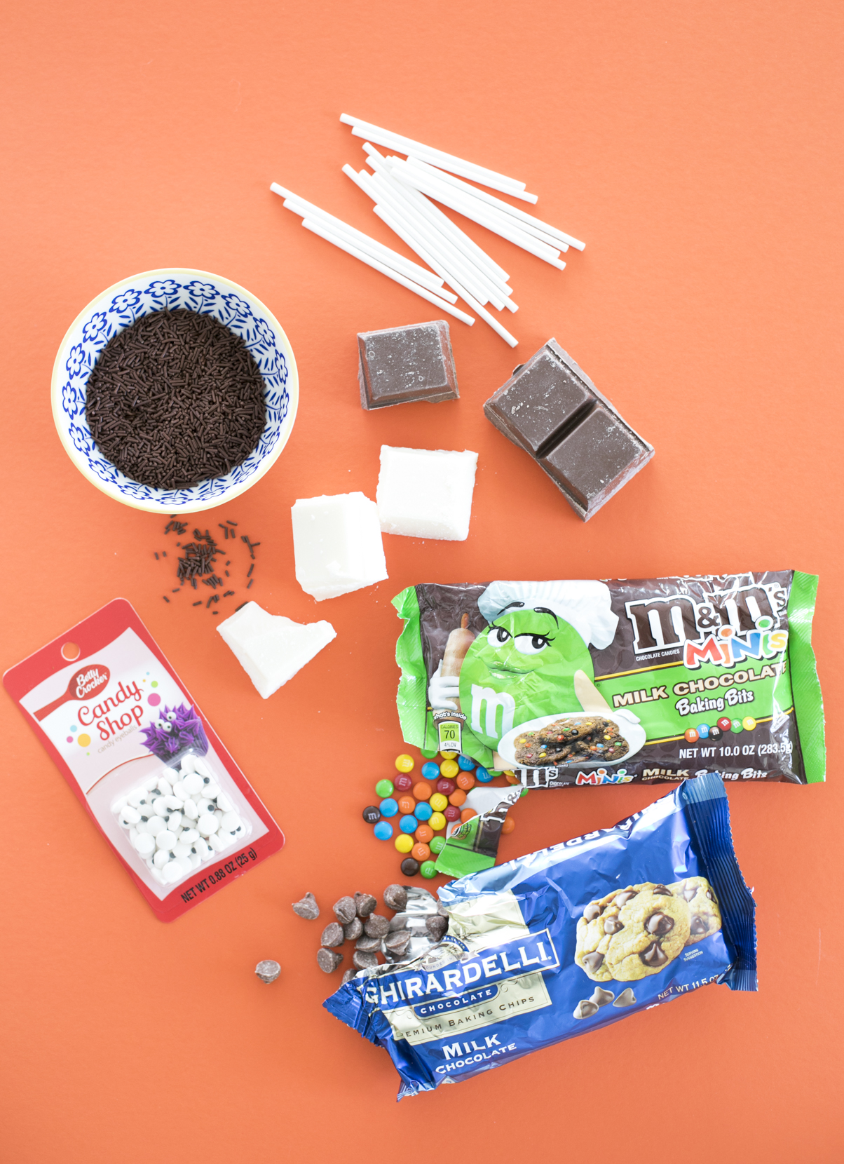 DIY Puppy Chocolate Pops Ingredients