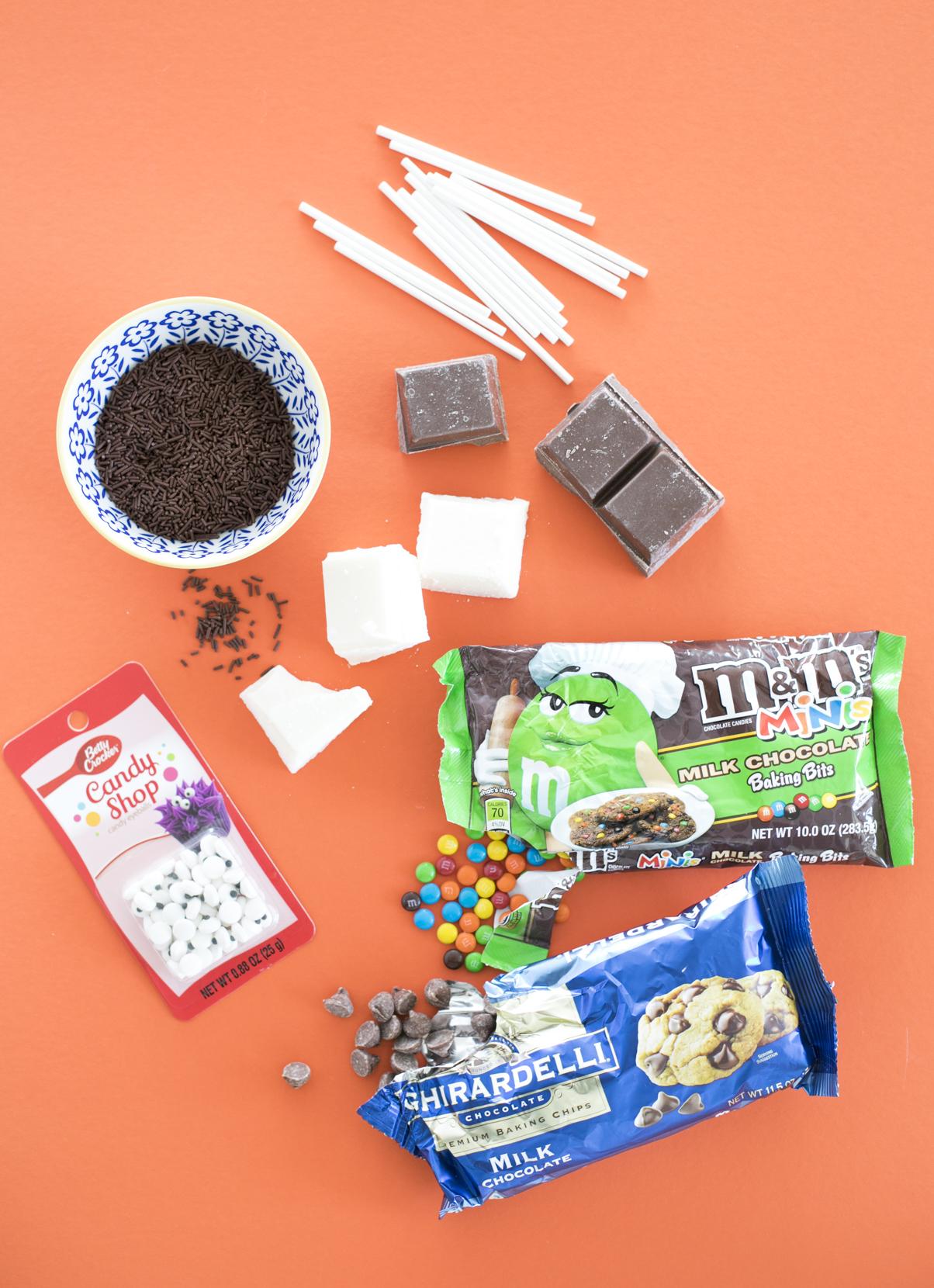 DIY Puppy Chocolate Pops Ingredients
