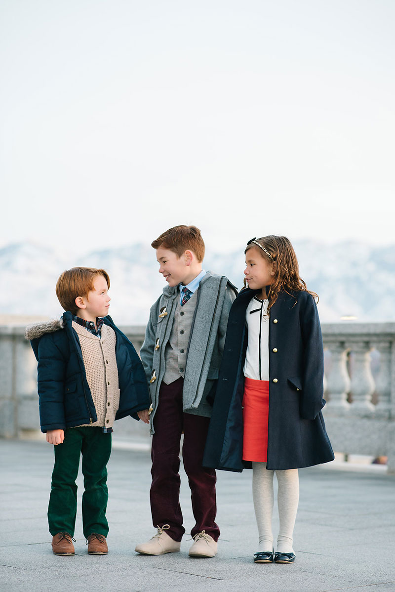 Kids wearing Janie and Jack Clothing