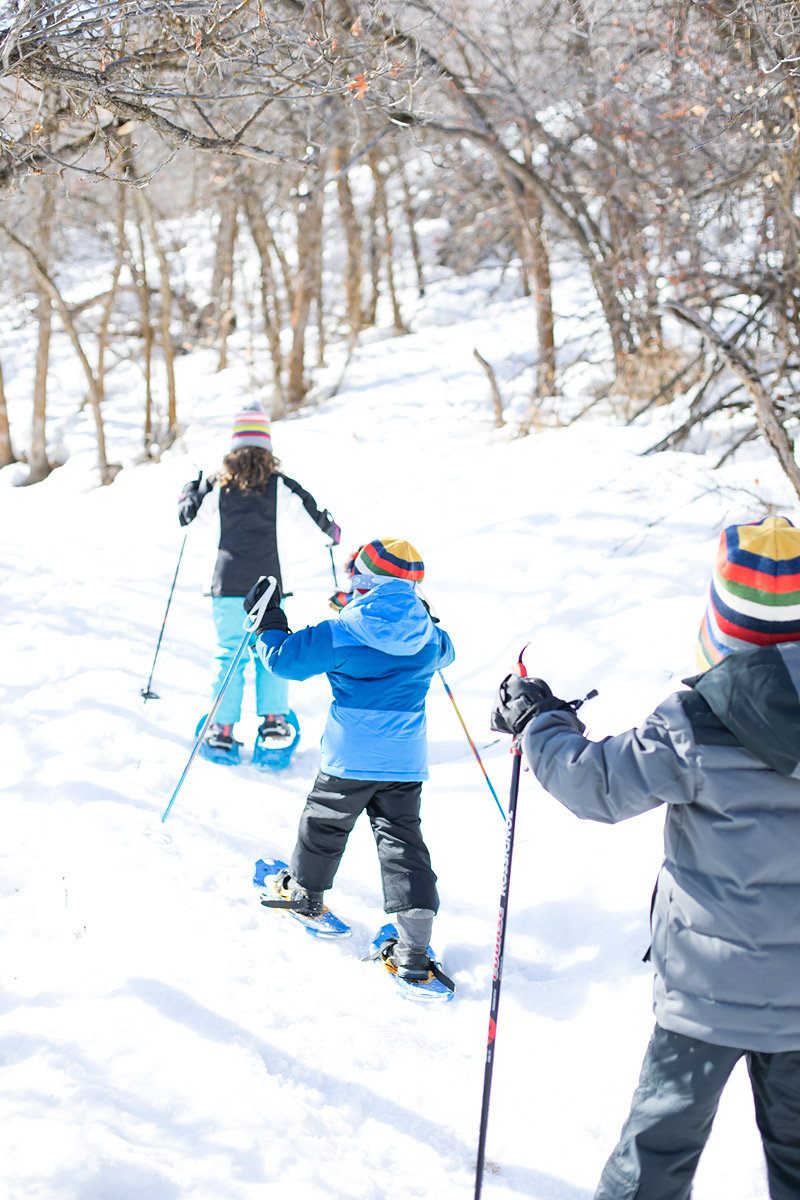 Kids Snowshoeing at Wasatch State Park Midway