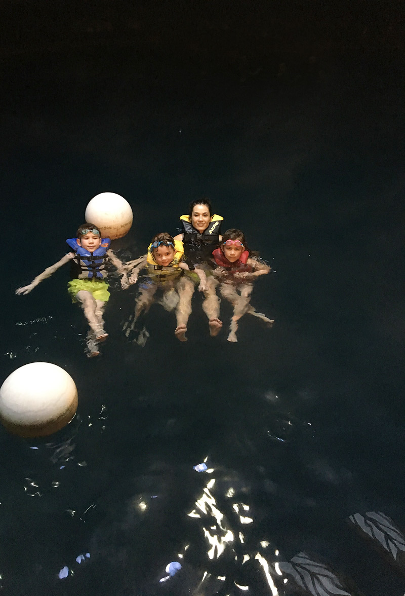 Kids Swimming in the Homestead Crater