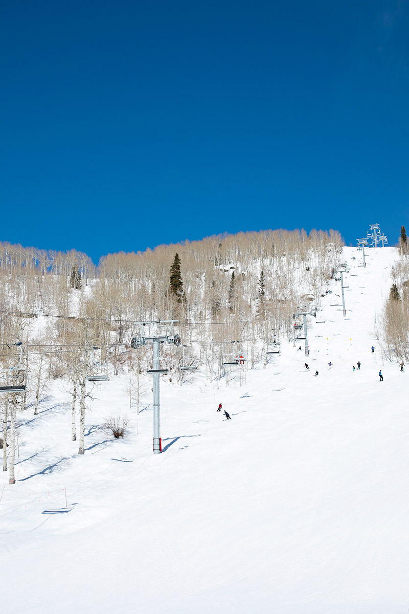 Bluebird Day at Steamboat Springs Colorado Ski Resort