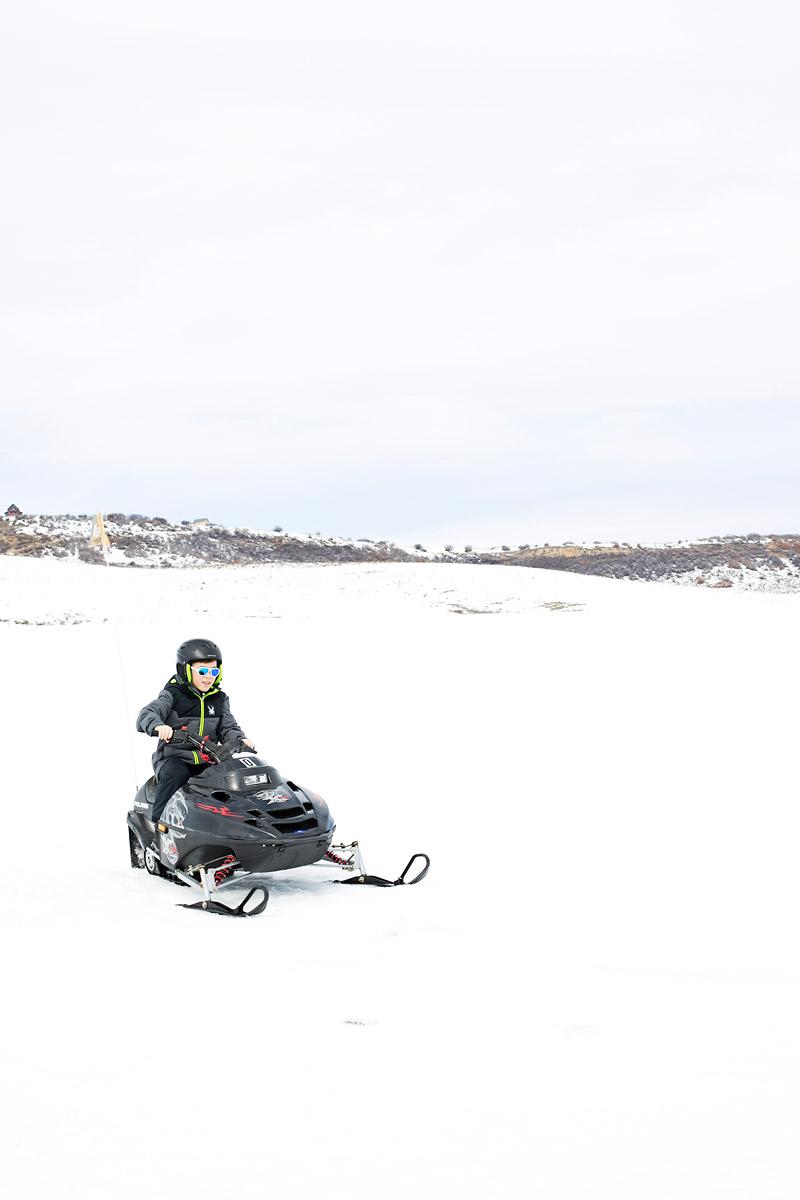 Kid Snowmobiling Rides at Saddleback Ranch