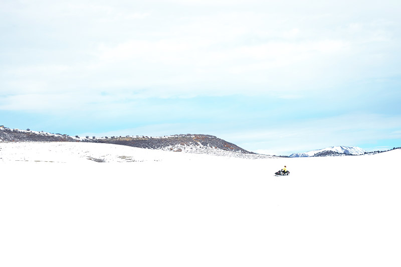 Kid Snowmobiling Rides at Saddleback Ranch