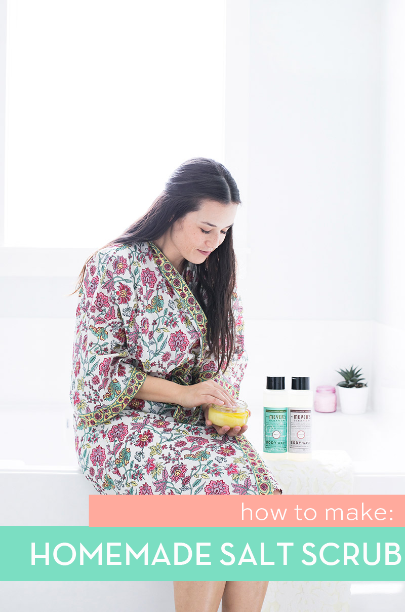 Mrs Meyers Clean Day Body Wash and Homemade Salt Scrub