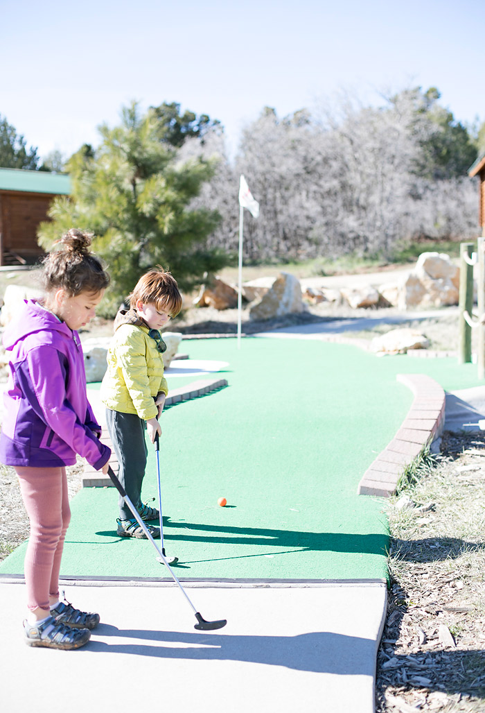Mini Golf Course at Zion Ponderosa Resort