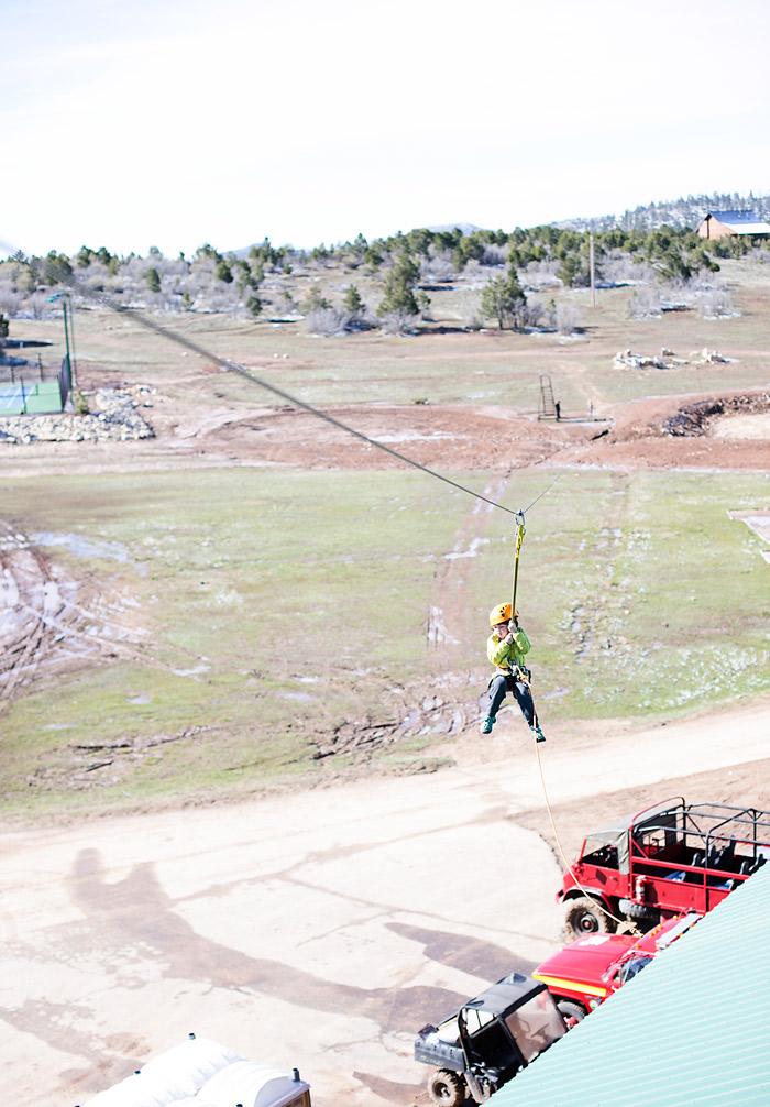 Zipline at Zion Ponderosa Resort Ranch
