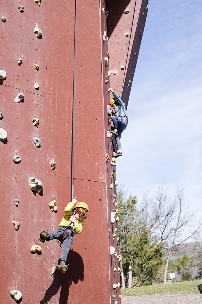 Rock Climbing Wall at Zion Ponderosa Resort