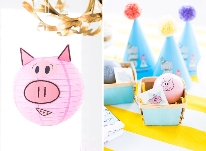 Elephant and Piggie Party Decor and Favors
