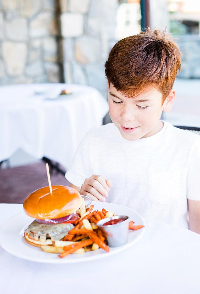 Bison Burger at Honeycomb Grill Solitude Resort