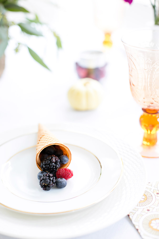 DIY Fruit Cornucopia