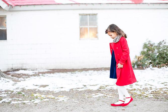 Girls Red Coat Janie and Jack