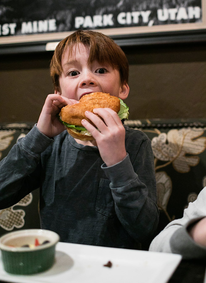 Kids Cheese burger at the Brass Tag Deer Valley