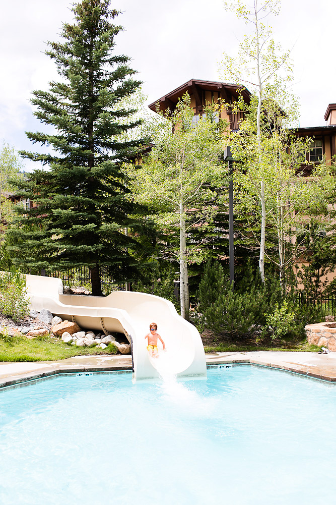 Outdoor Mountainside Pool and Waterslide at Club Solitude