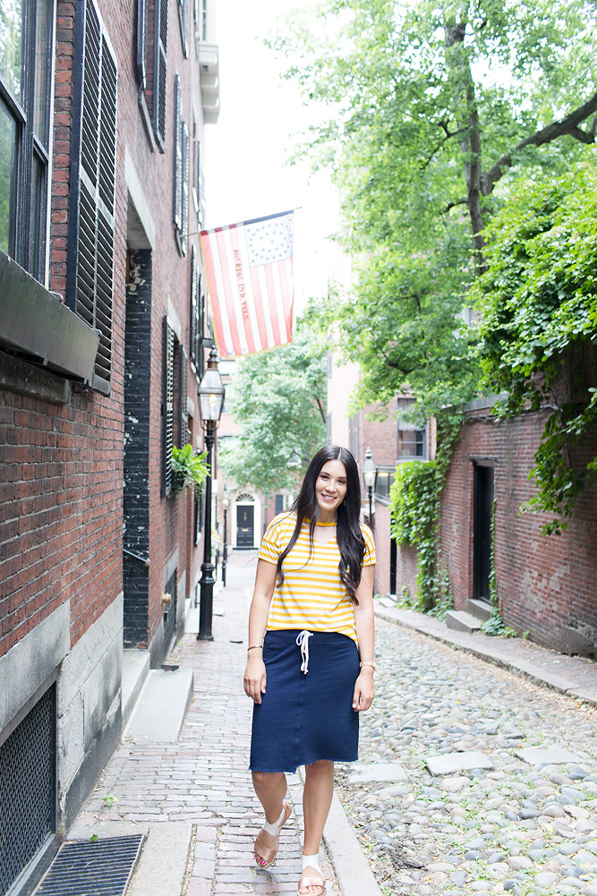 Acorn Street in Boston