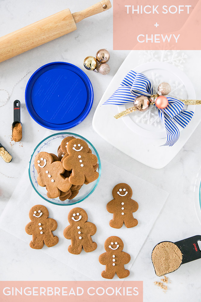 Soft Thick and Chewy Gingerbread Cookies // Santa Bruce