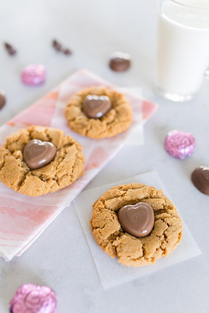 Dove Hershey Kiss Chocolate Valentine Peanut Butter Cookies Recipe