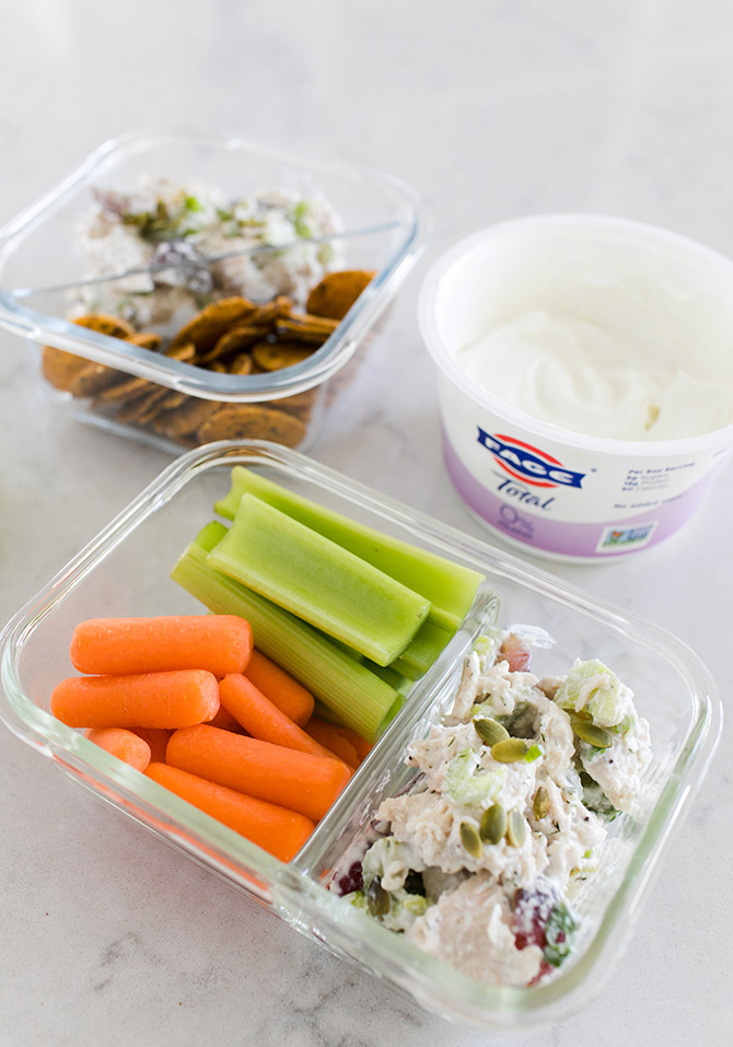 Healthy Chicken Salad Snack Packs on the Go